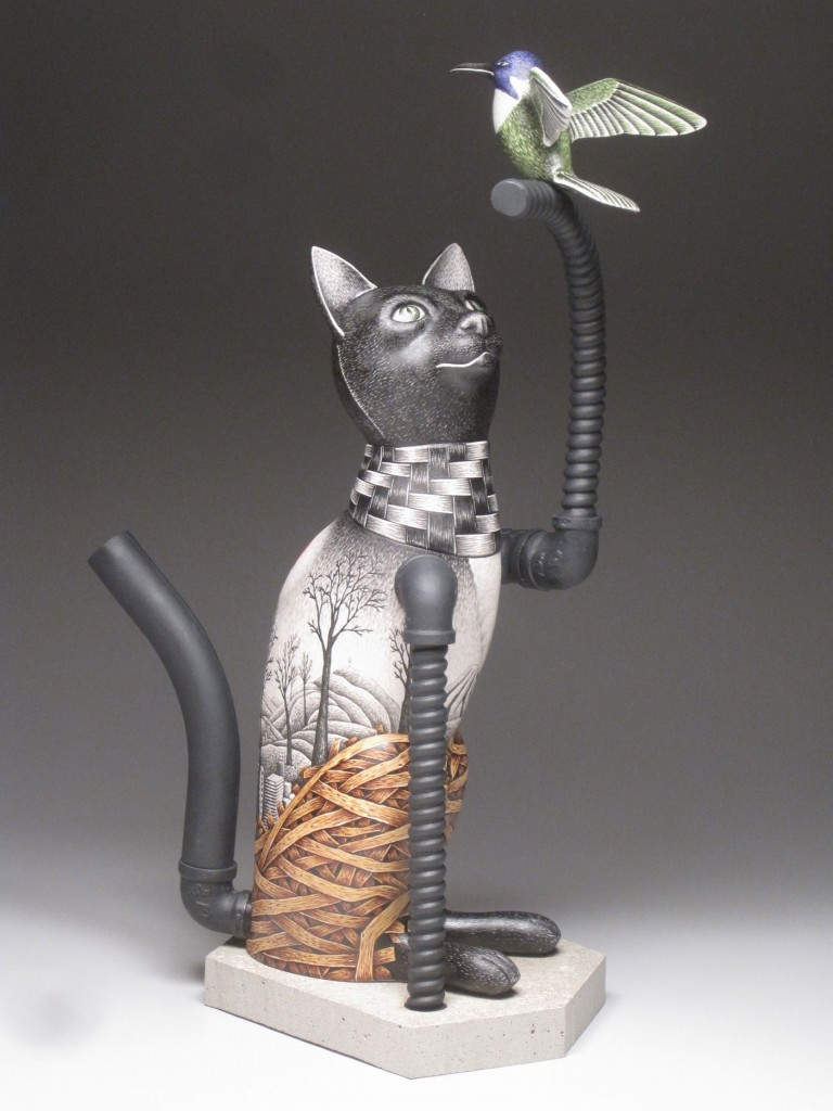 Jason Walker Ceramics Illustrated Porcelain Sculptures